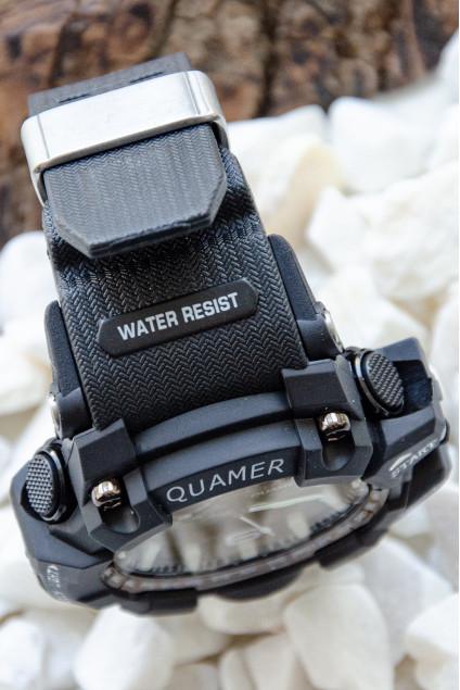Quamer Black Seri Analog Dijital Su Geçirmez Hediye Saat Hediye Erkek Saat