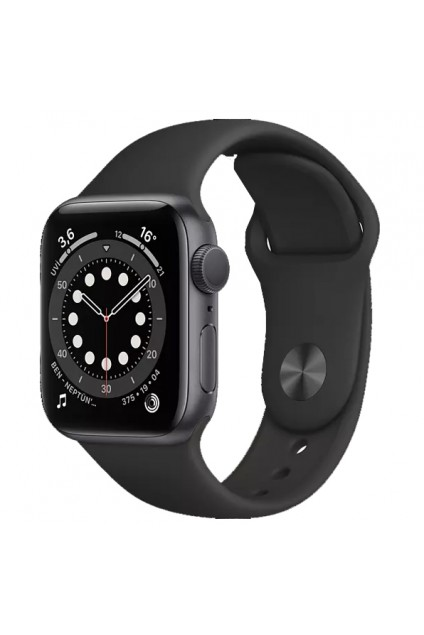 APPLE Watch Series 6 GPS, 44mm Aluminium Case Siyah Sport Band Akıllı Saat Uzay Grisi