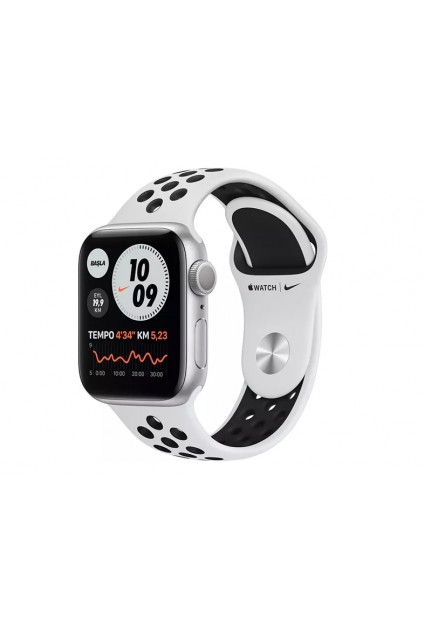 APPLE Watch Nike Series 6 GPS 40mm Aluminium Case Platin/Siyah Nike Spor Kordon Akıllı Saat Silver