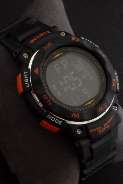Quamer Dijital Ekran Erkek Silikon Dayanıklı Saat